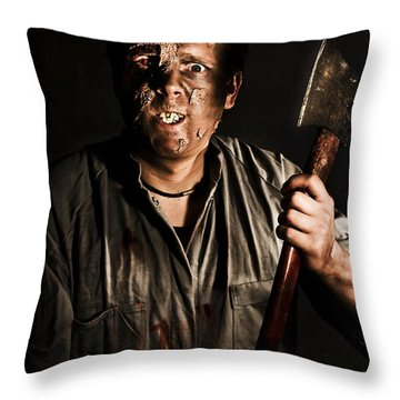 Axe Murderer Throw Pillow