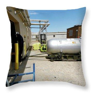 Nuclear Bomb Throw Pillows