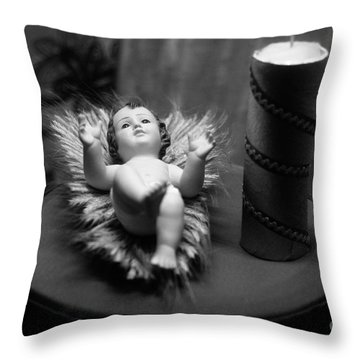 Baby Jesus Throw Pillow by Gaspar Avila