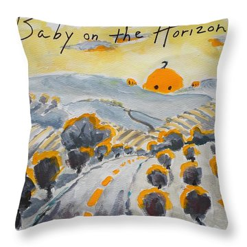 Baby On The Horizon Throw Pillow by Margaret  Plumb