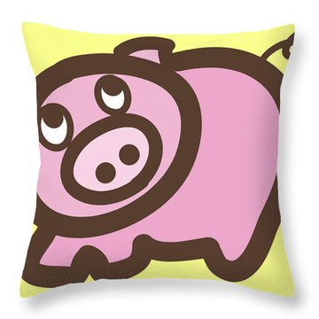 Baby Pig Art For The Nursery Throw Pillow