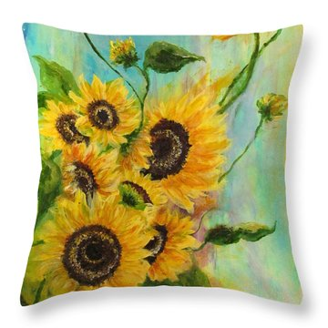 Back To The Cosmos Throw Pillow by France Laliberte