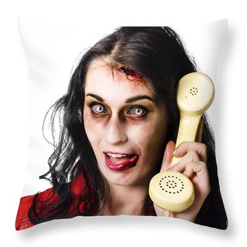 Bad Hair Throw Pillows