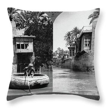 Baghdad Tigris, C1914 Throw Pillow
