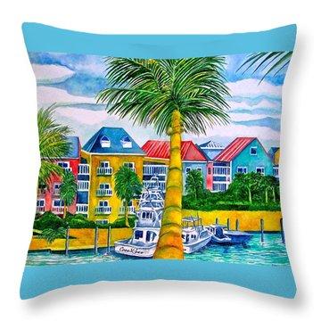 Bahamian Blues Throw Pillow