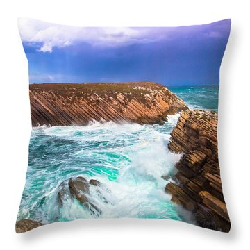Baleal Throw Pillow by Edgar Laureano