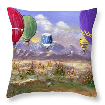 Throw Pillow featuring the painting Balloons by Jamie Frier