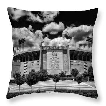 Baltimore Memorial Stadium 1960s Throw Pillow by Mountain Dreams