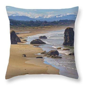 Throw Pillow featuring the photograph Bandon Beach Landscape by Dennis Bucklin