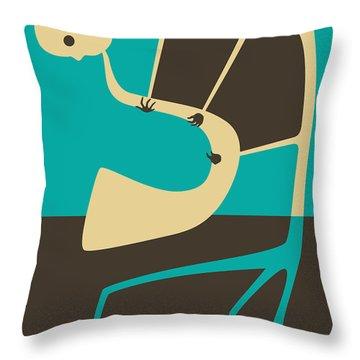 The Blues Sax Throw Pillow