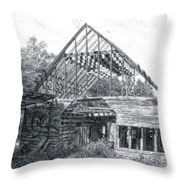 Barn Skeleton Throw Pillow