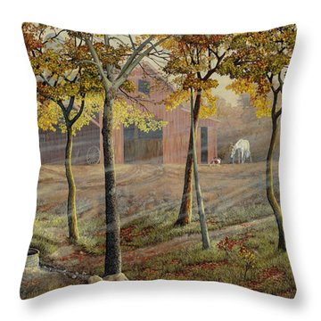 Barrel Spring Throw Pillow