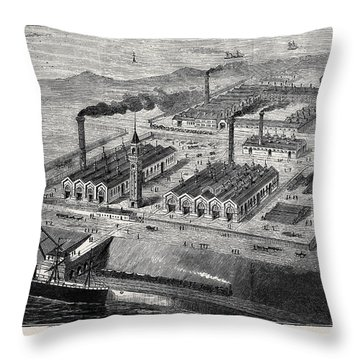 Barrow In Furness Throw Pillows