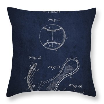 Baseball Cover Patent Drawing From 1924 Throw Pillow