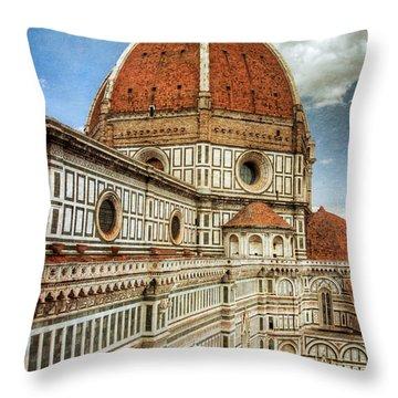Basilica Di Santa Maria Del Fiore  Throw Pillow