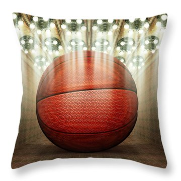 Basketball Museum Throw Pillow