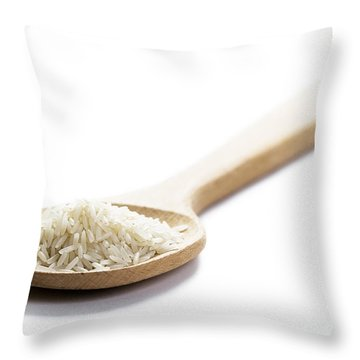 Throw Pillow featuring the photograph Basmati Rice by Lee Avison