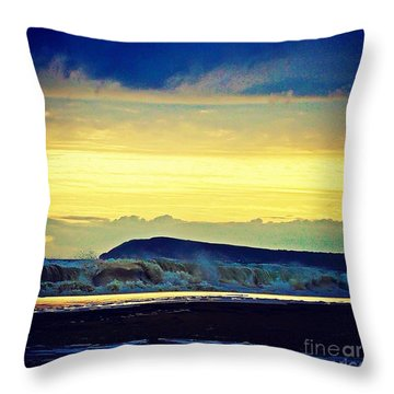 Bass Coast Throw Pillow by Blair Stuart