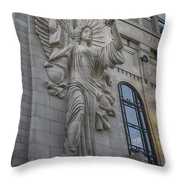 Bass Hall Angel Throw Pillow