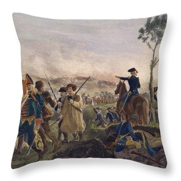 Battle Of Bennington, 1777 Throw Pillow by Granger