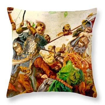 Battle Of Grunwald Throw Pillow by Henryk Gorecki