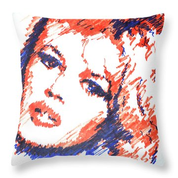 BB Throw Pillow by Victor Minca