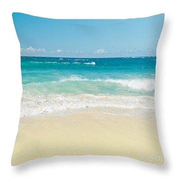 Throw Pillow featuring the photograph Beach Love by Sharon Mau