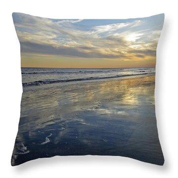 Beach Reflections Throw Pillow