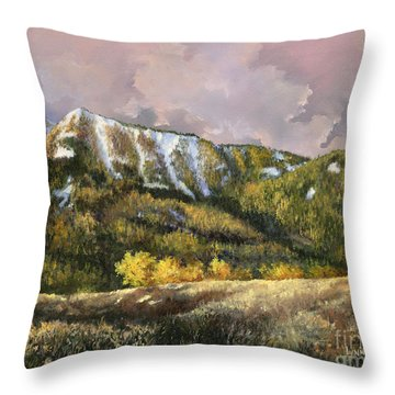 Throw Pillow featuring the painting Bear Claw by Lynne Wright