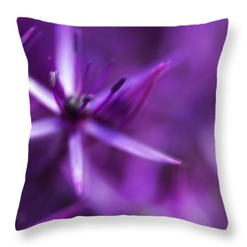 Beautiful Purple Floral Abstract Throw Pillow by Matthew Gibson