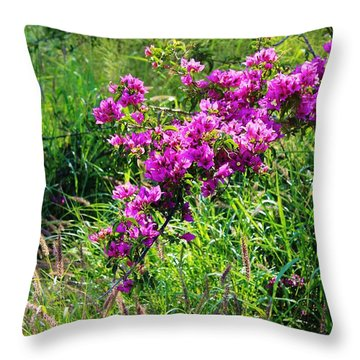 Beauty Among The Weeds Throw Pillow by Craig Wood