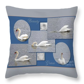 Beauty And Grace Throw Pillow