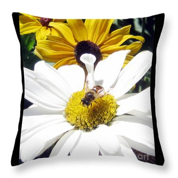 Throw Pillow featuring the photograph Beecause by Janice Westerberg