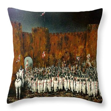 Before Battle Throw Pillow by Kaye Miller-Dewing