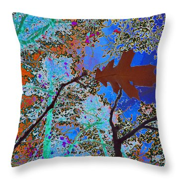 before the descent BLUE Throw Pillow