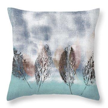 Beginning Of Winter Throw Pillow