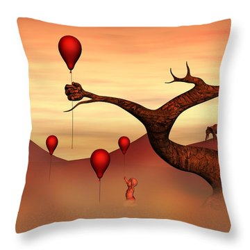 Throw Pillow featuring the digital art Believe What You See by Gabiw Art