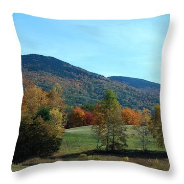 Throw Pillow featuring the photograph Belknap Mountain by Mim White