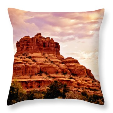 Bell Rock Vortex Painting Throw Pillow
