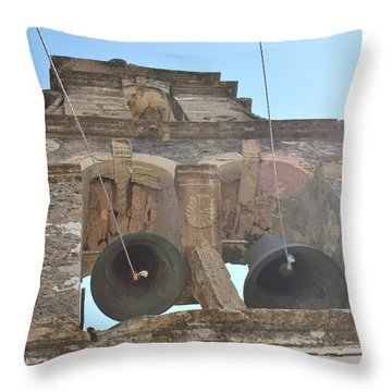 Throw Pillow featuring the photograph Bell Tower 1584 by George Katechis