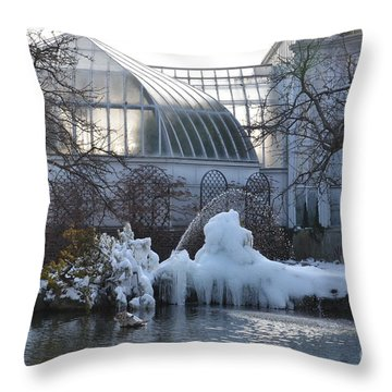 Belle Isle Conservatory Pond 2 Throw Pillow