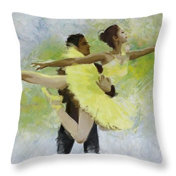 Belly Dancers Throw Pillow