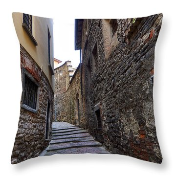 Bergamo Alta Throw Pillow by Jouko Lehto