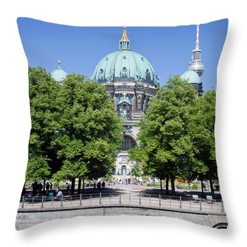 Berlin Catherdral Throw Pillow