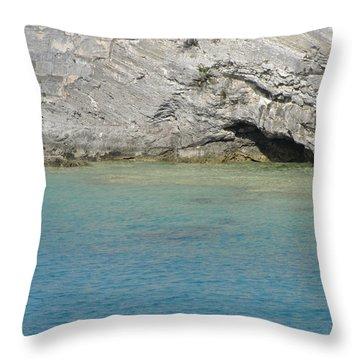 Bermuda Cave Throw Pillow