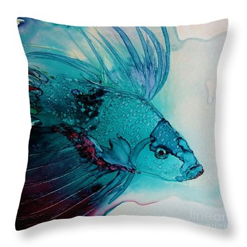 Betta Dragon Fish Throw Pillow