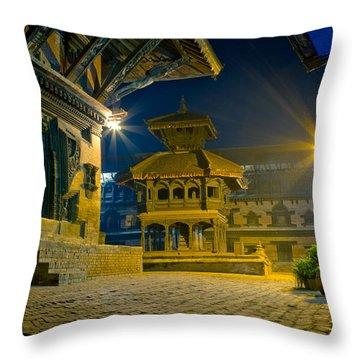 Bhaktapur City Of Devotees Artmif.lv Throw Pillow