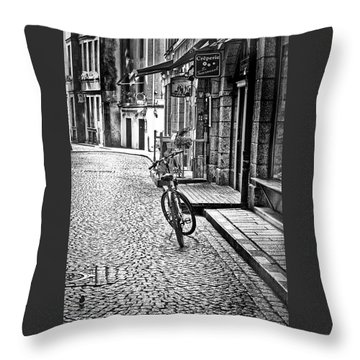 Bicycle And Sparrow 2  Throw Pillow