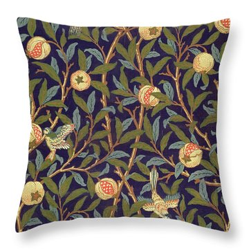 Bird And Pomegranate Throw Pillow