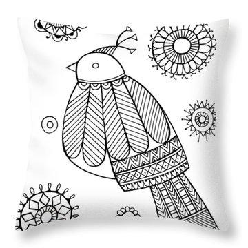 Bird Dove Throw Pillow